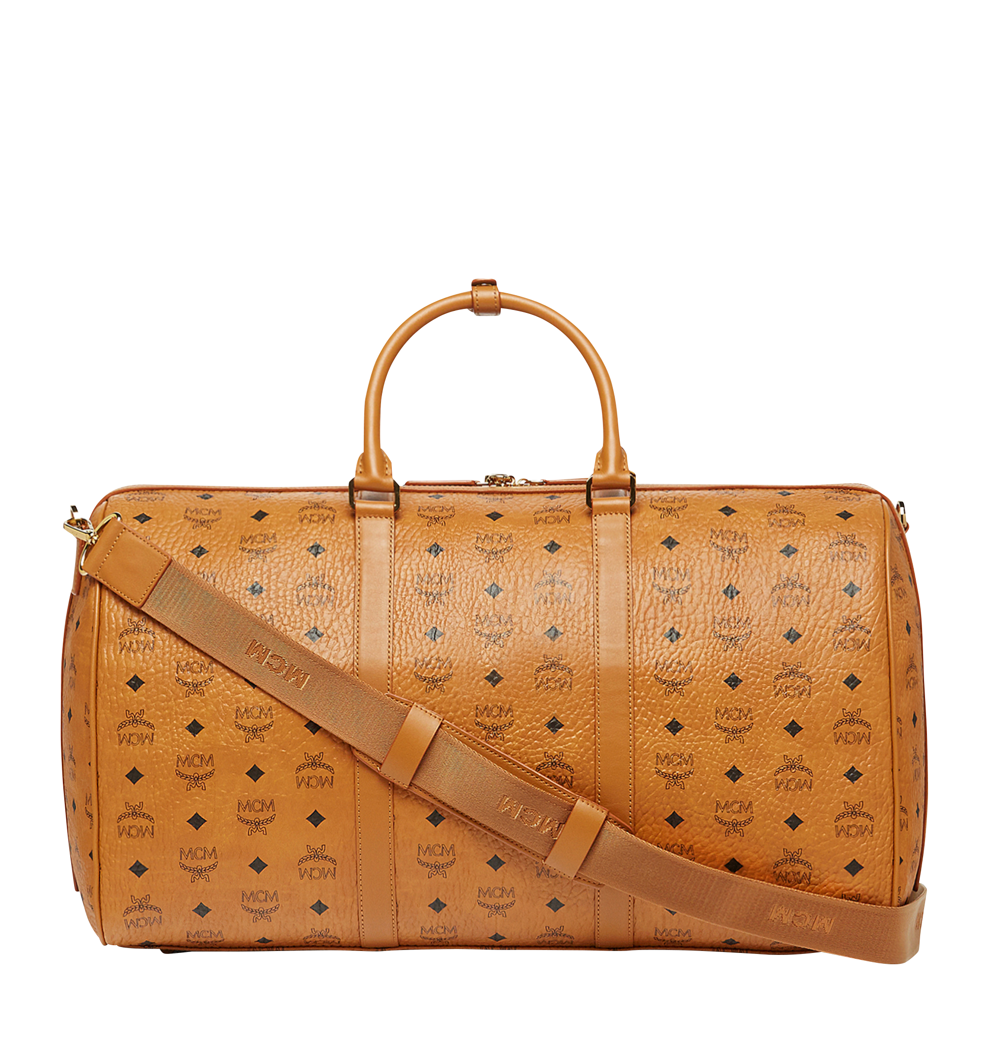 MCM Sac week-end Traveler en Visetos Cognac MUV7AVY02CO001 Plus de photos 3