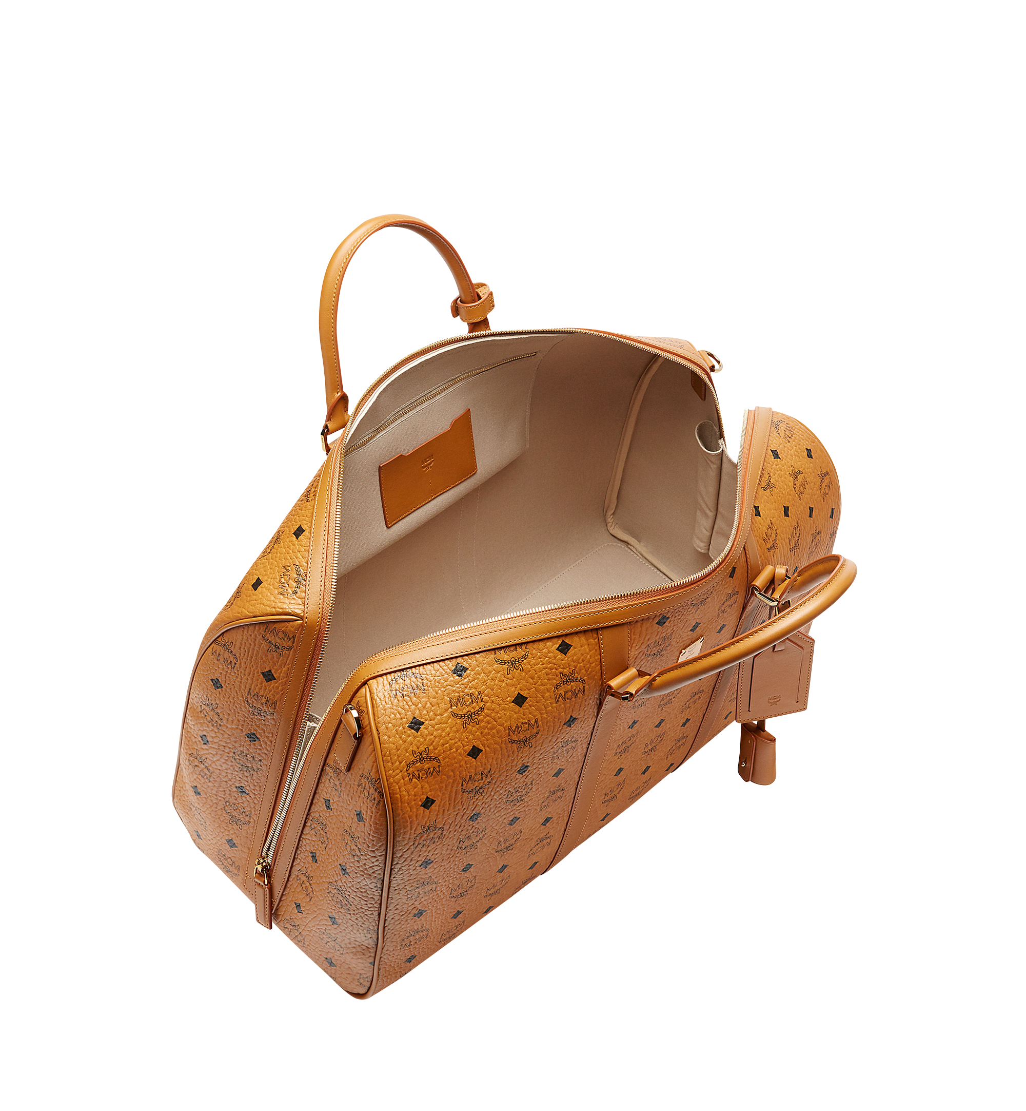 MCM Traveler Weekender in Visetos Cognac MUV7AVY02CO001 Alternate View 4