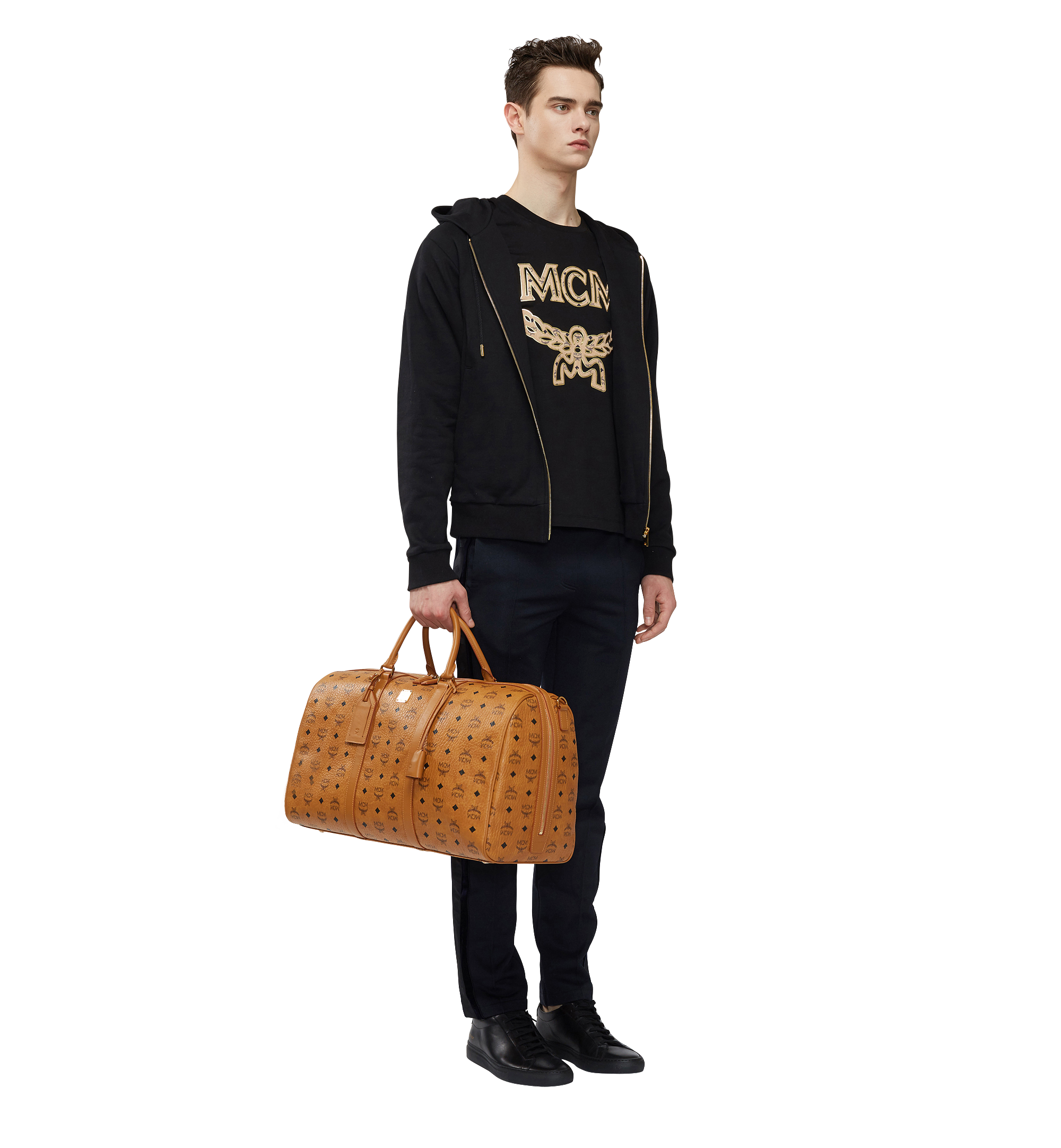 MCM Sac week-end Traveler en Visetos Cognac MUV7AVY02CO001 Plus de photos 5