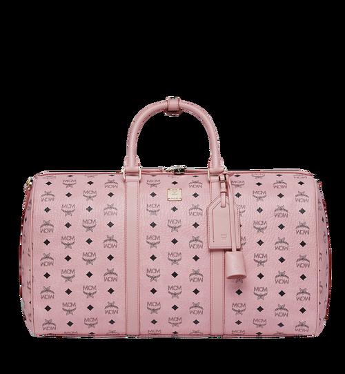 50 cm 20 in Traveler Weekender in Visetos Soft Pink | MCM® DE