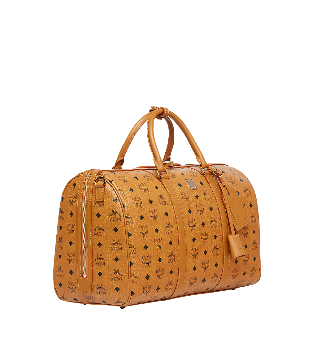 MCM Traveler Weekender in Visetos Cognac MUV7AVY03CO001 Alternate View 1
