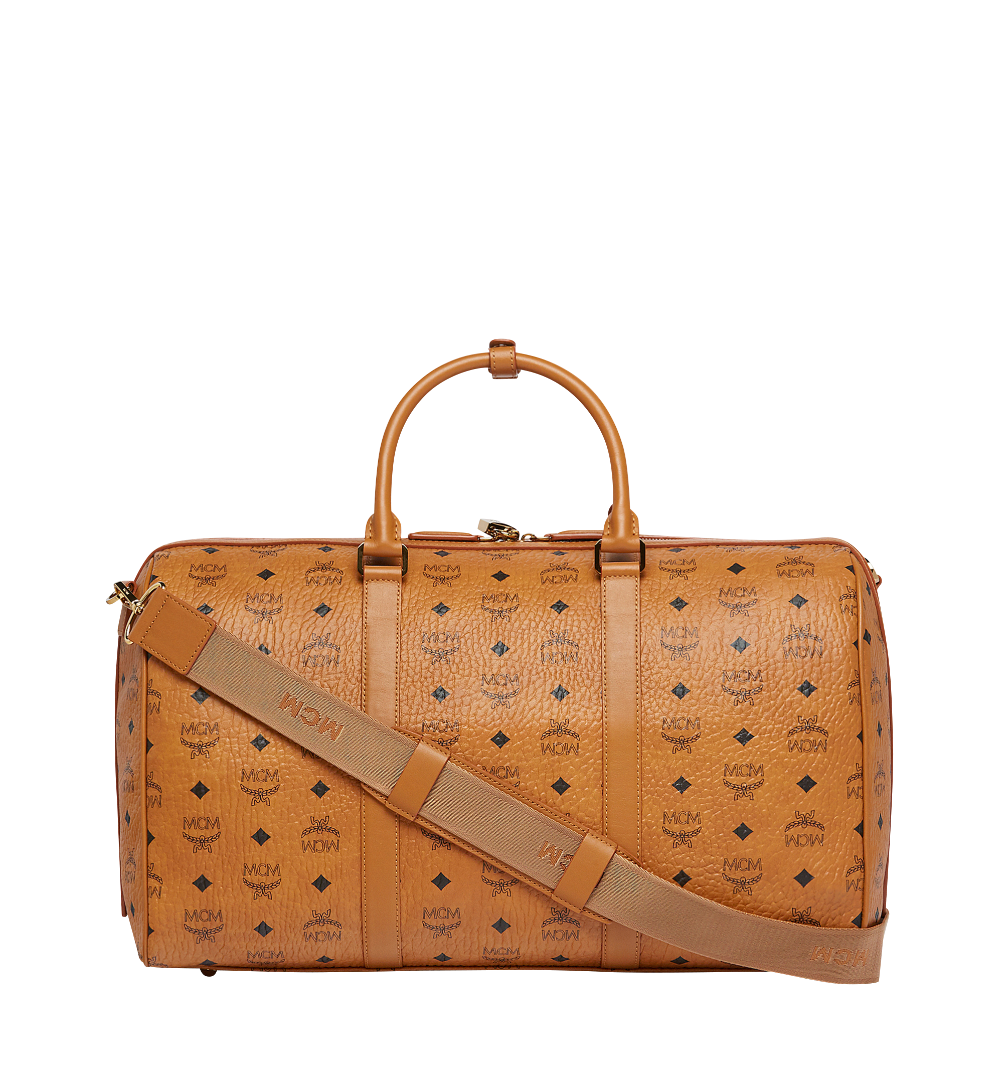 MCM Traveler Weekender in Visetos Cognac MUV7AVY03CO001 Alternate View 4