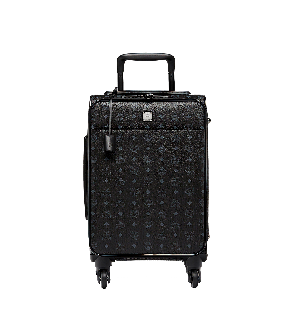 MCM Traveler Cabin Trolley in Visetos Black MUV8SVY04BK001 Alternate View 1