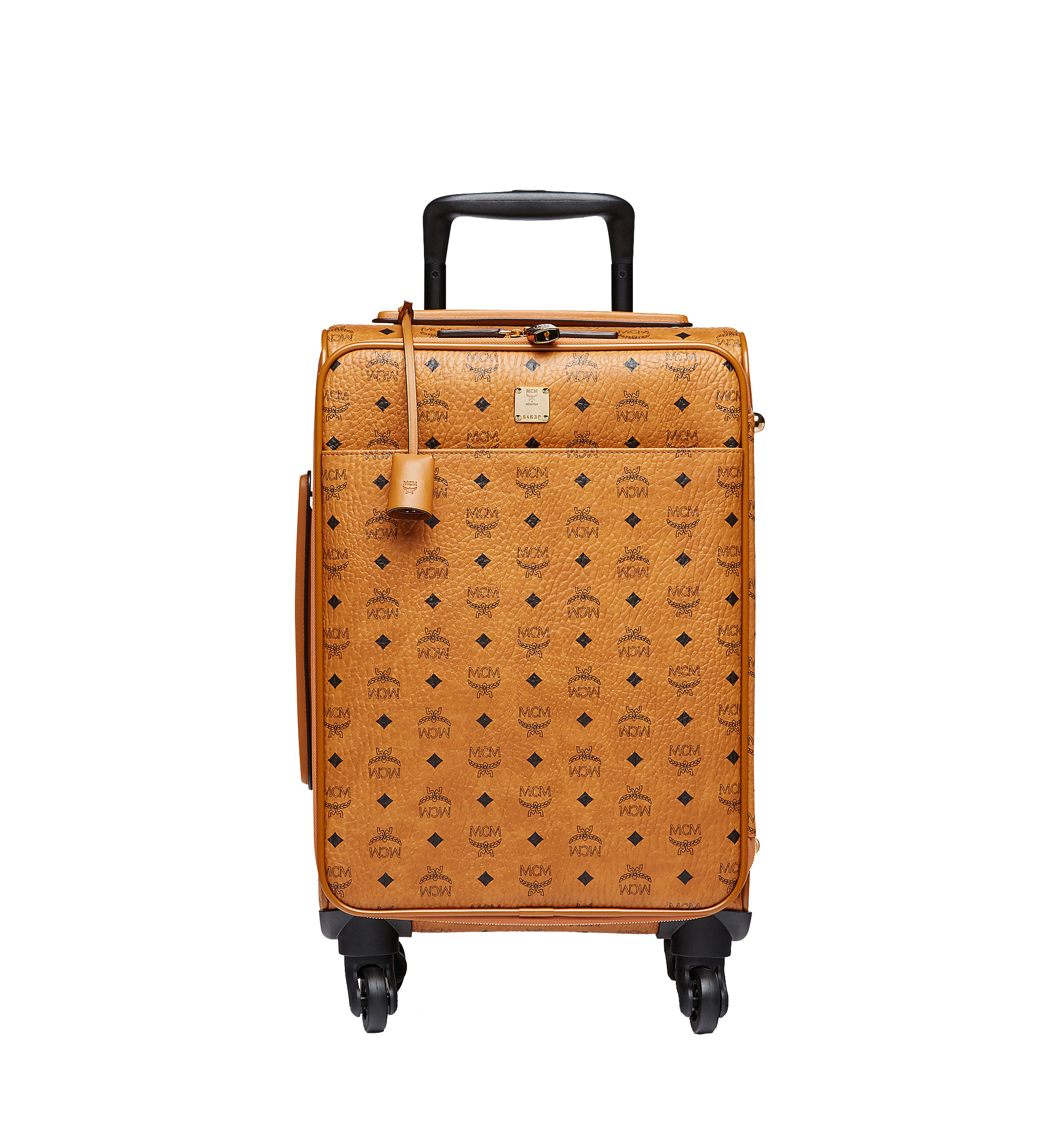 MCM Sac à roulettes pour cabine Traveler en Visetos Cognac MUV8SVY04CO001 Plus de photos 1