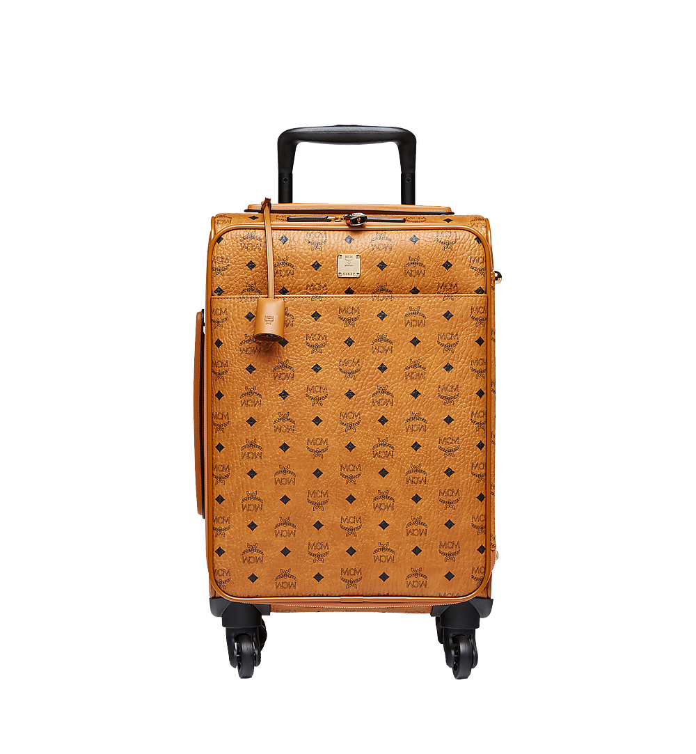 MCM Traveler Kabinentrolley in Visetos Cognac MUV8SVY04CO001 Noch mehr sehen 1