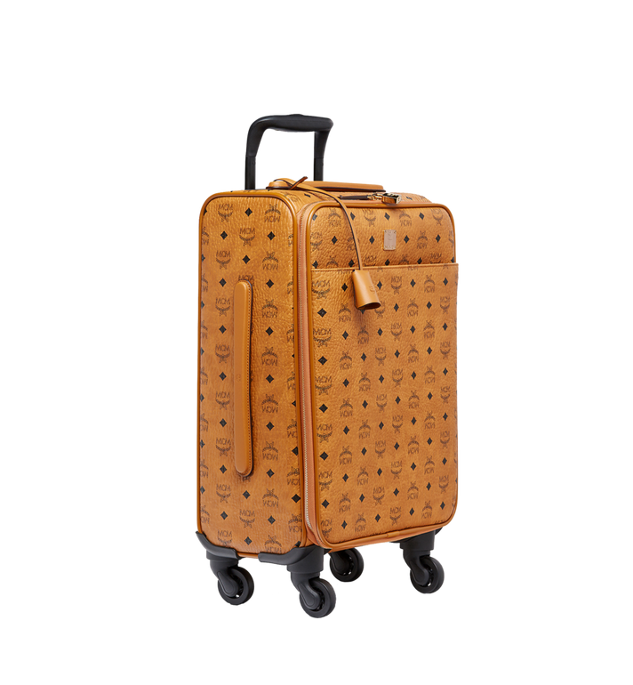 MCM Traveler Cabin Trolley in Visetos Cognac MUV8SVY04CO001 Alternate View 2