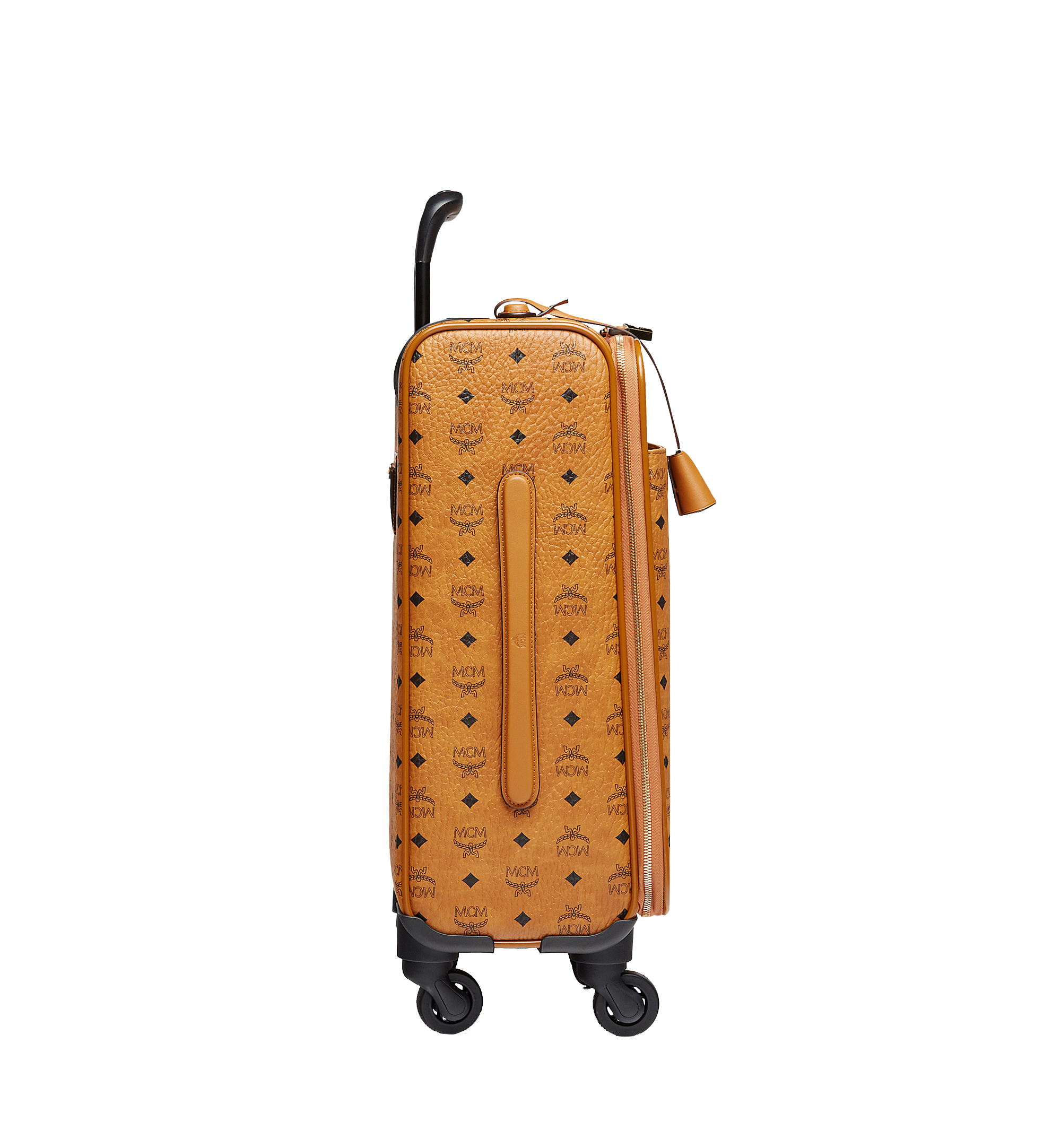 MCM Sac à roulettes pour cabine Traveler en Visetos Cognac MUV8SVY04CO001 Plus de photos 2