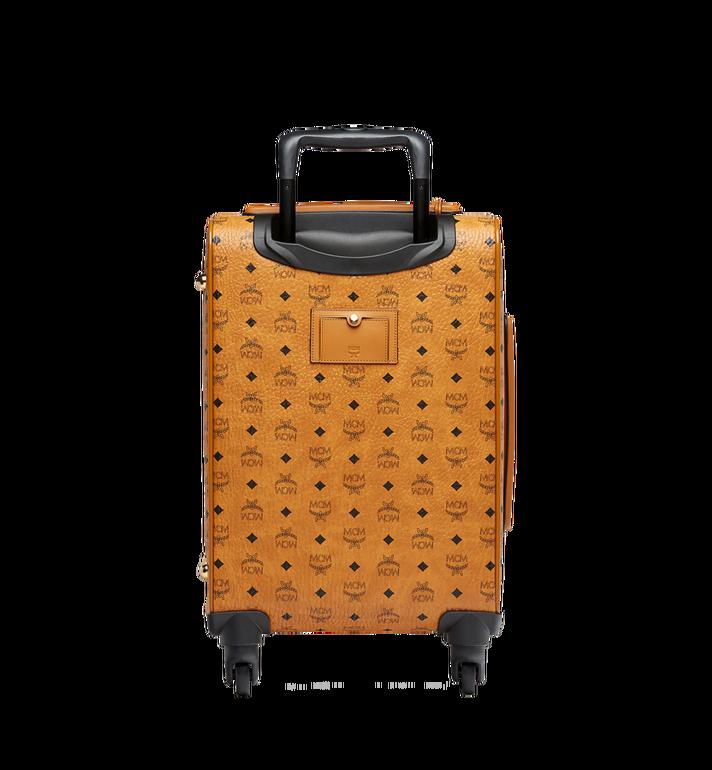 MCM Sac à roulettes pour cabine Traveler en Visetos Cognac MUV8SVY04CO001 Alternate View 4