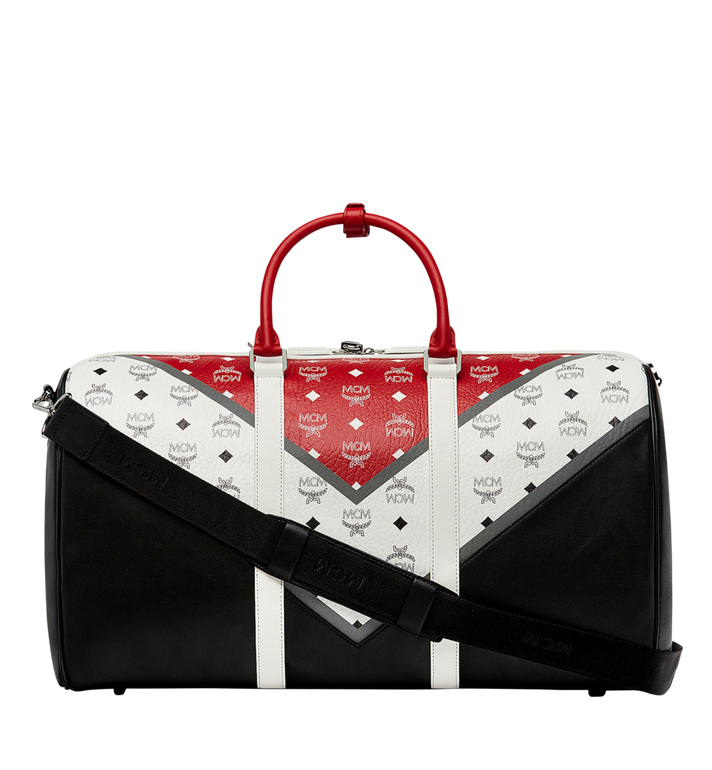 MCM Traveler Weekender-Tasche in Chevron Stripe Alternate View 4