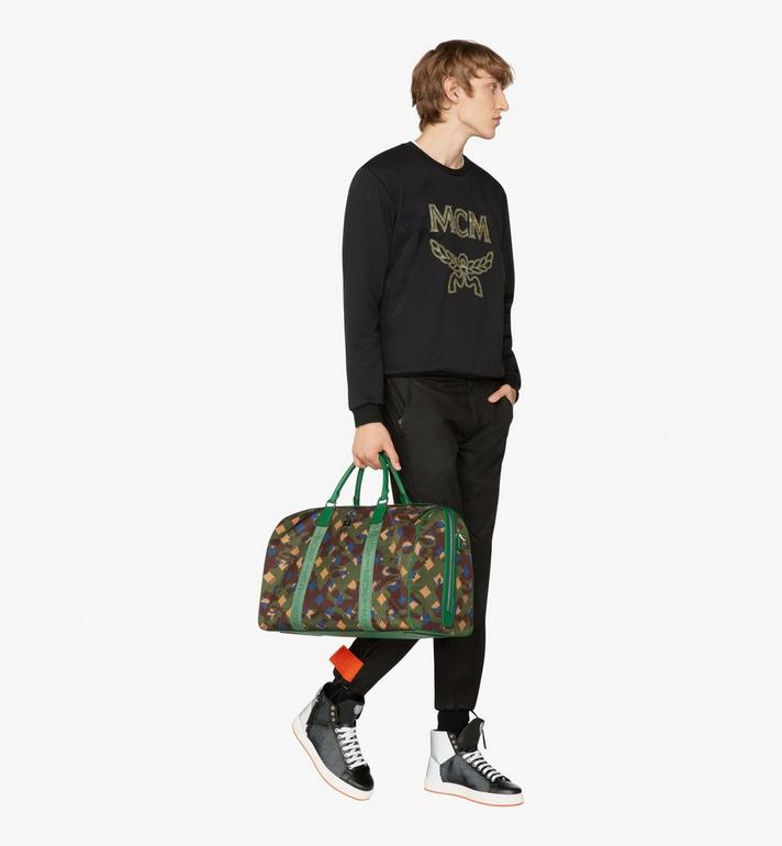 MCM Dieter Weekender Bag in Munich Lion Camo Alternate View 5