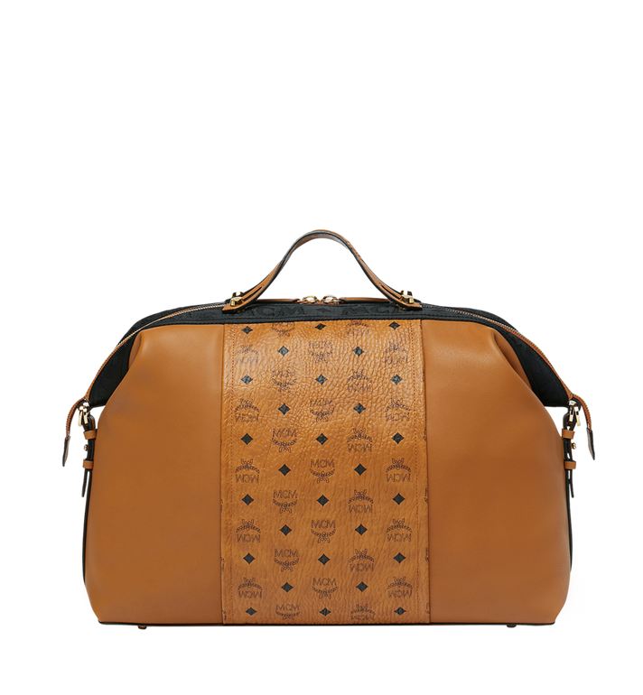 MCM Essential Weekender in Visetos and Leather Alternate View