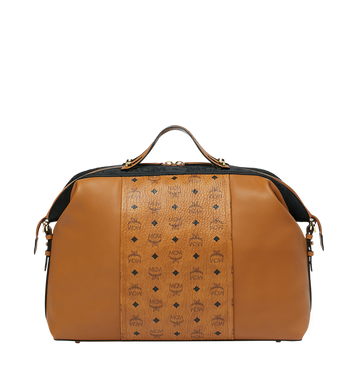 MCM Essential Weekender in Visetos and Leather Alternate View 1