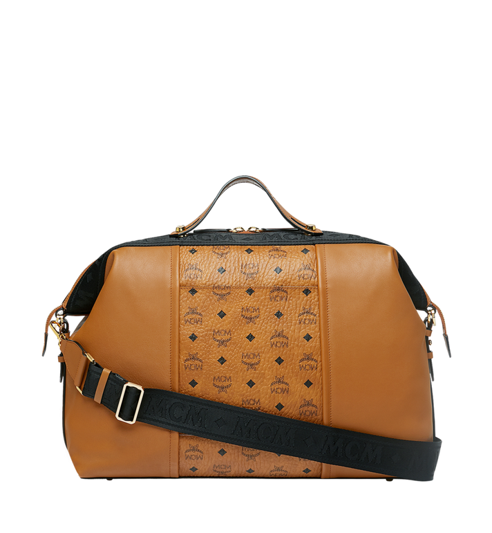 MCM Essential Weekender in Visetos and Leather MUV9SSE06CO001 AlternateView4