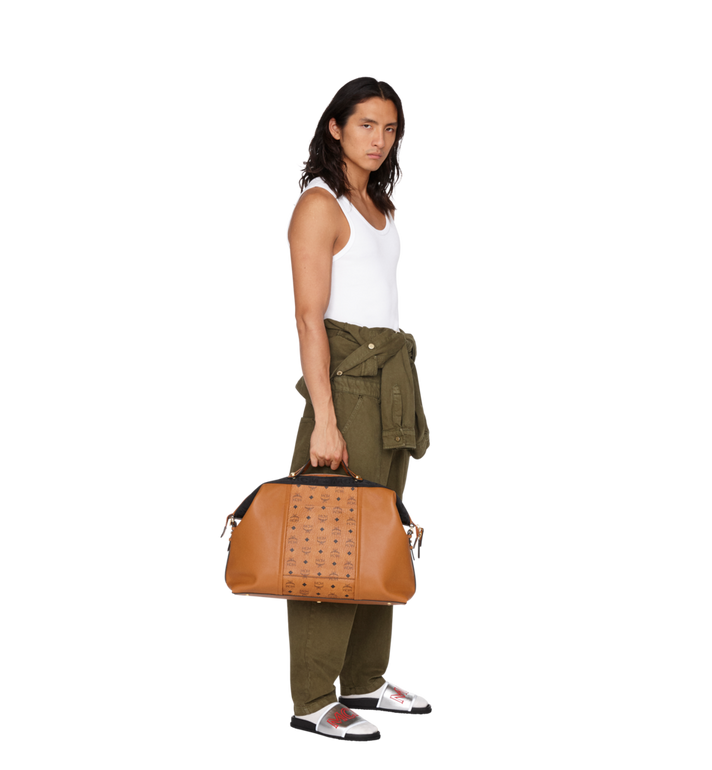 MCM Essential Weekender in Visetos and Leather MUV9SSE06CO001 AlternateView7