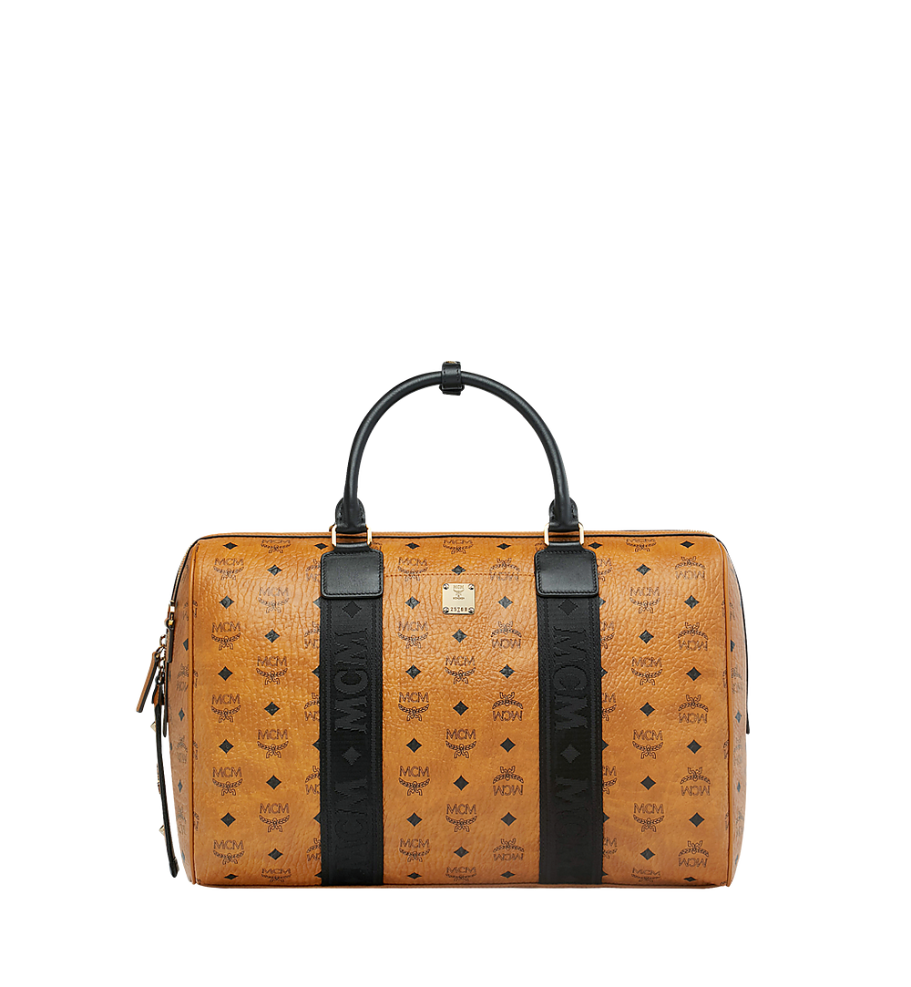 MCM Traveler Weekender in Visetos Cognac MUV9SVY09CO001 Alternate View 1