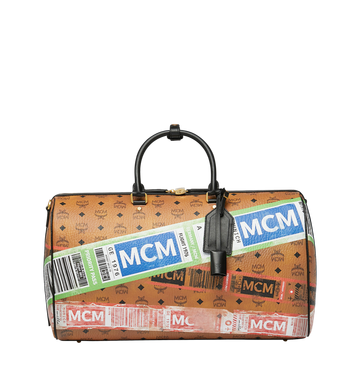 MCM Traveler Weekender in Flight Print Visetos Alternate View
