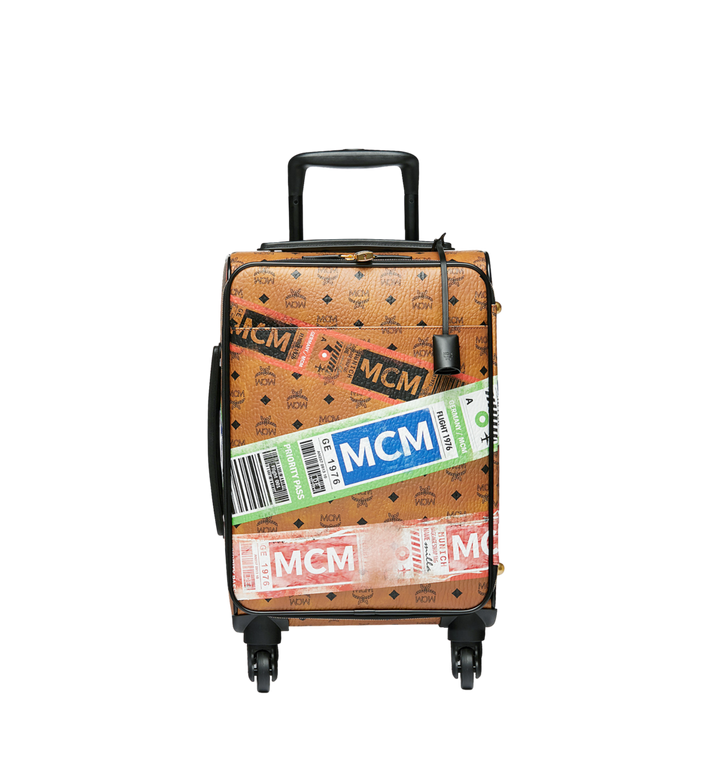 MCM Reise-Trolley in Flight Print Visetos Alternate View