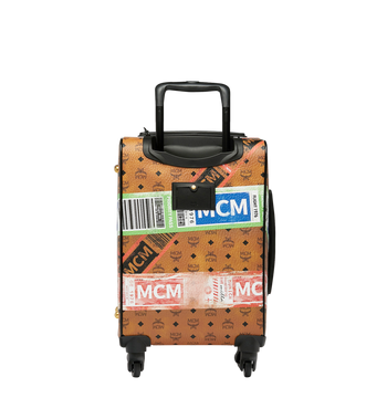 MCM Traveler Cabin Trolley in Flight Print Visetos Alternate View 4