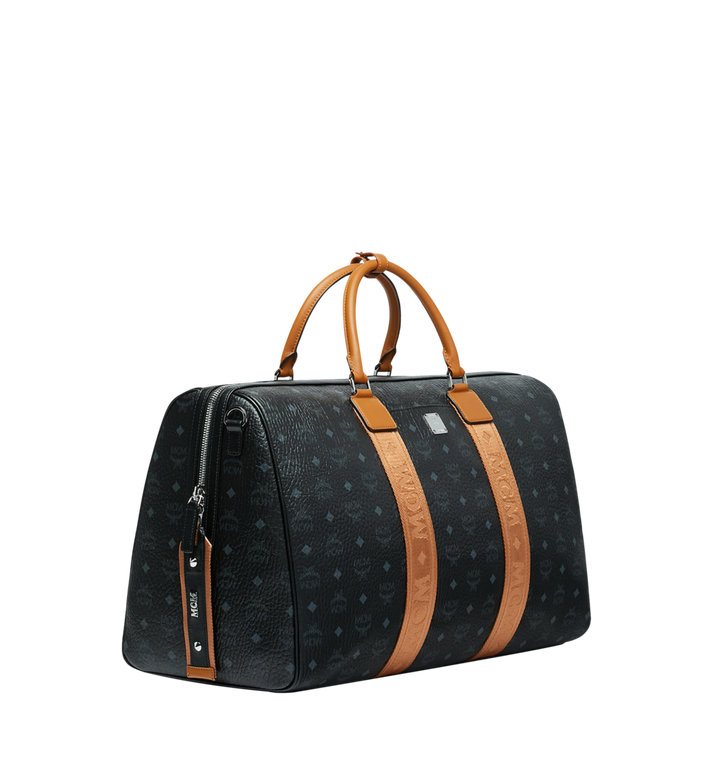 MCM Traveler Weekender in Visetos MUV9SVY16BK001 AlternateView2
