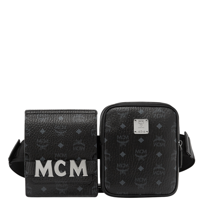 MCM Stark Modular Belt Bag in Visetos MUZ8AVE11BK001 AlternateView