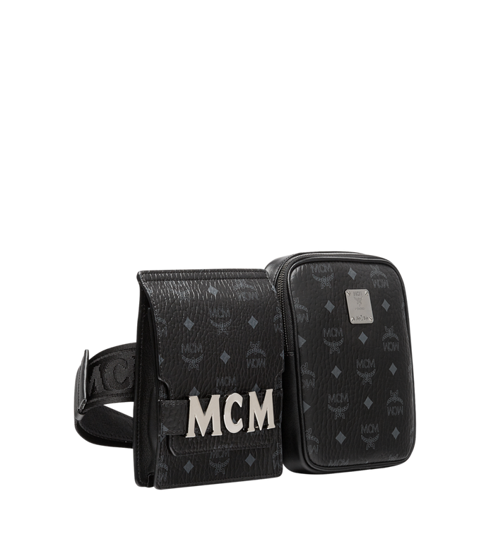 MCM Stark Modular Belt Bag in Visetos MUZ8AVE11BK001 AlternateView2
