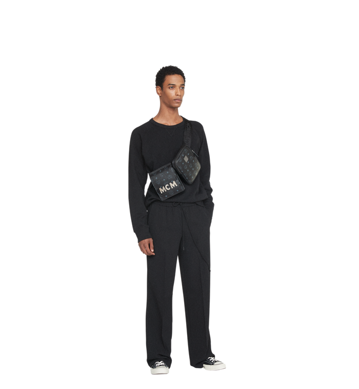 MCM Stark Modular Belt Bag in Visetos MUZ8AVE11BK001 AlternateView6