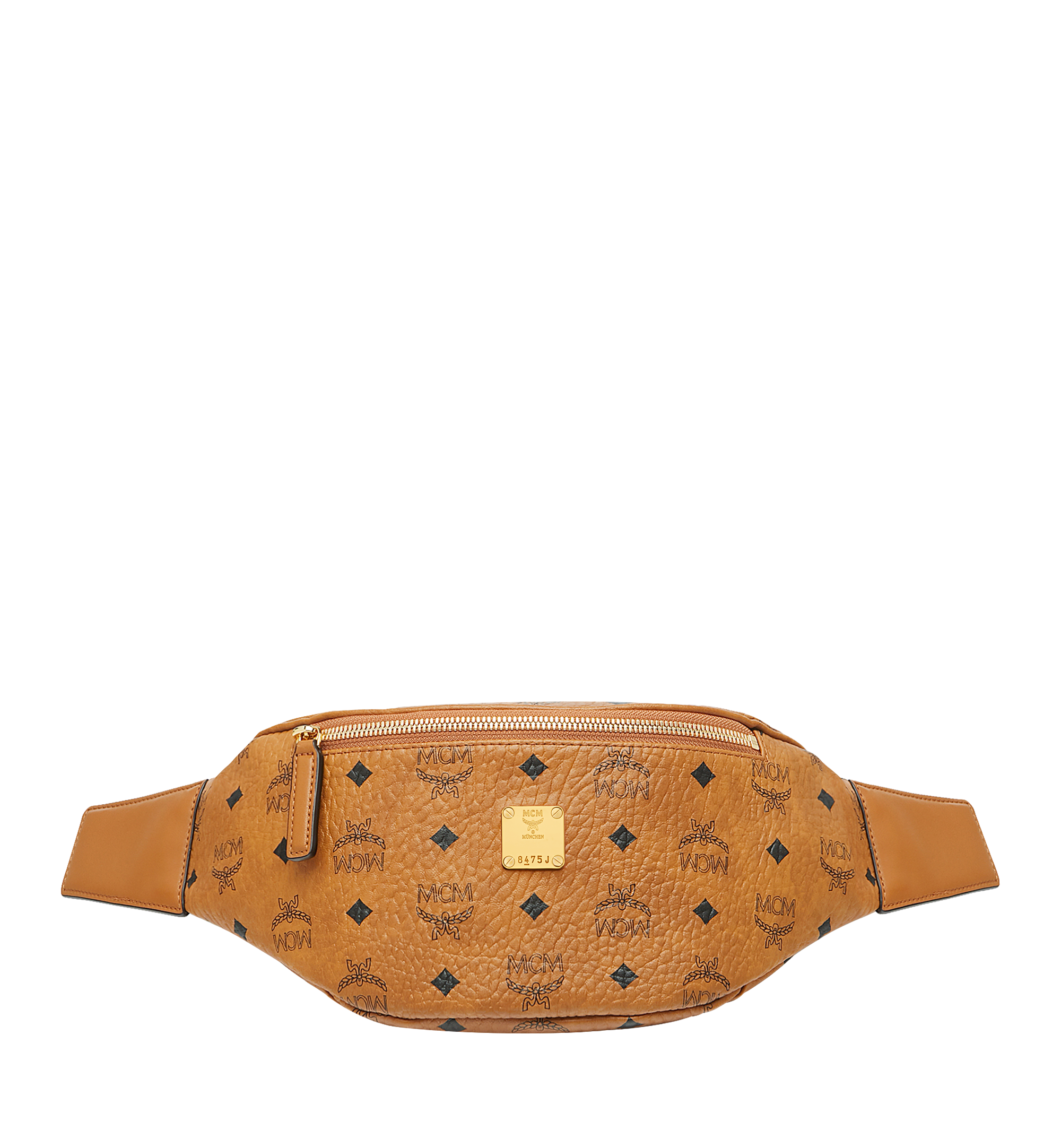 Small Stark Coated Canvas Belt Bag - Brown