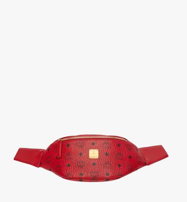 (MCM)RED Belt Bag in Visetos