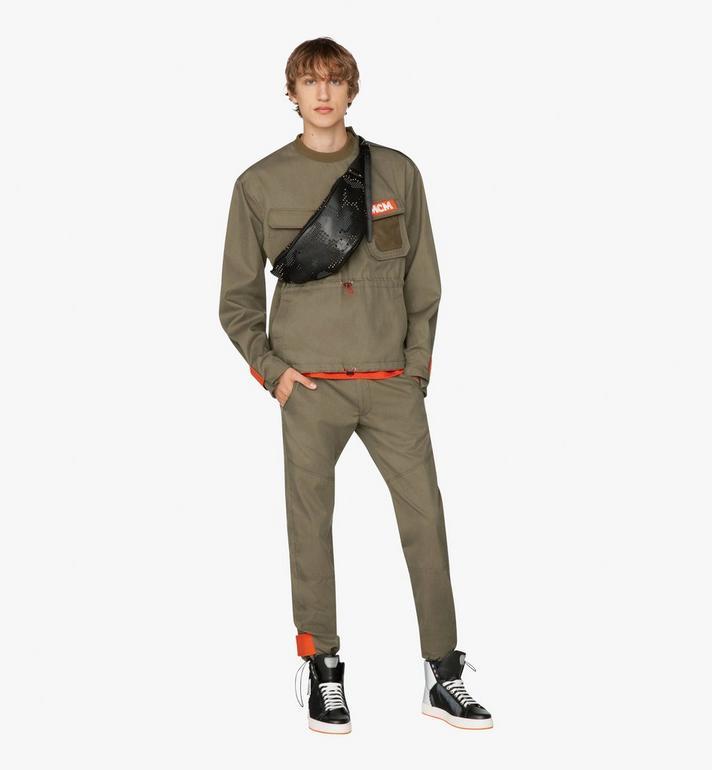 MCM Fursten Belt Bag in Studded Lion Camo  MUZ9AFI33BK001 Alternate View 4