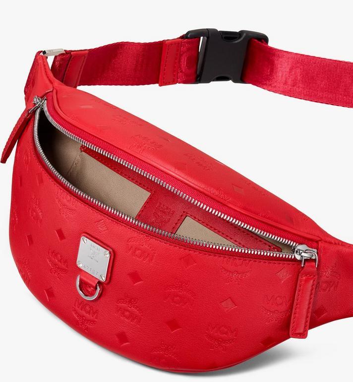 MCM Fursten Belt Bag in Monogram Leather  MUZ9AFI50RJ001 Alternate View 3