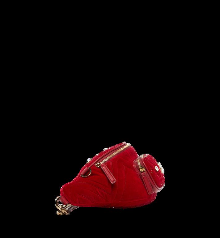 MCM Fursten Belt Bag in Velvet Crystal AlternateView3