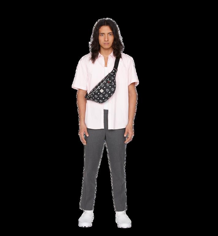 MCM Fursten Belt Bag in White Logo Visetos Alternate View 6