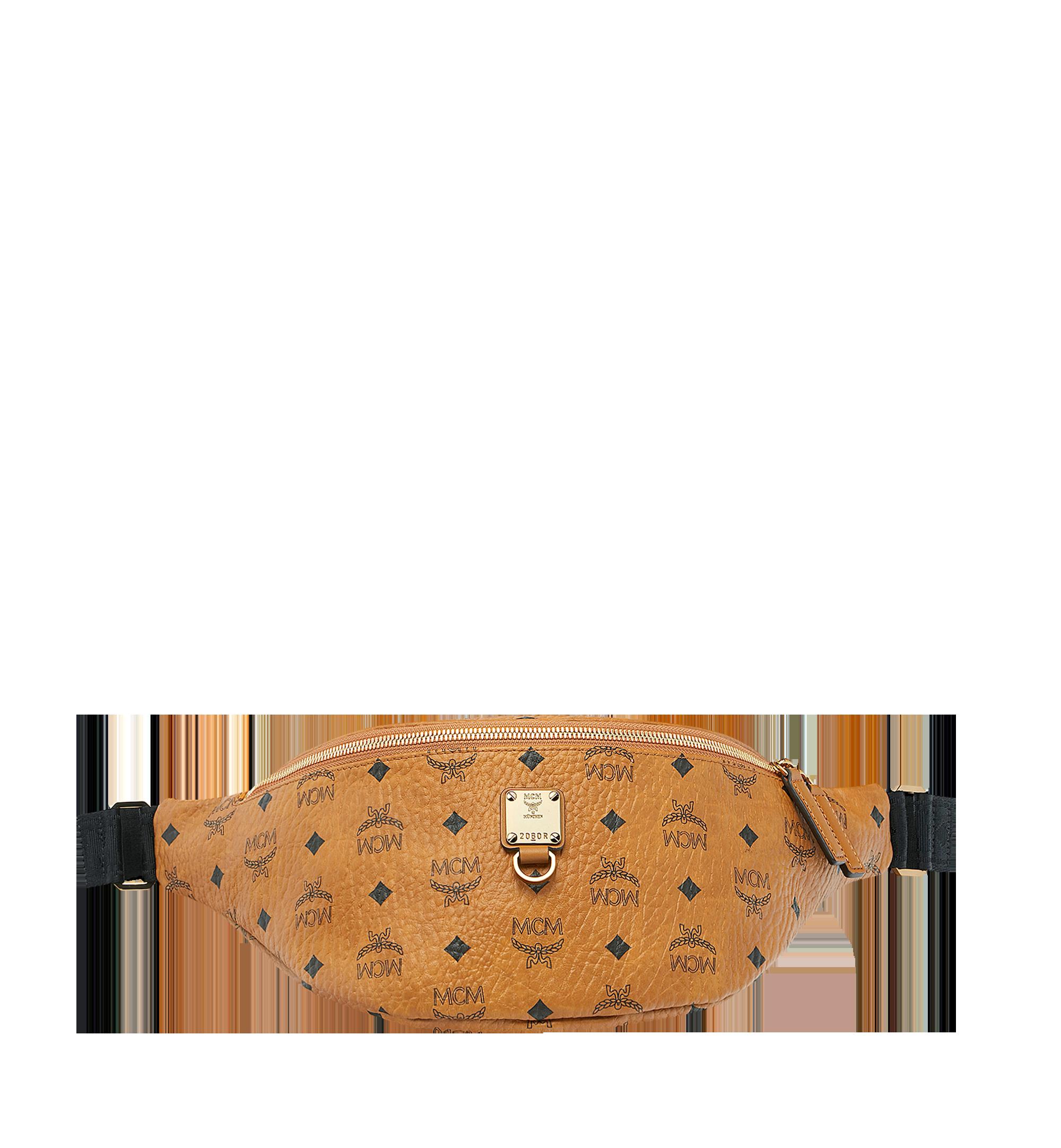 MCM Fursten Belt Bag in Visetos Cognac MUZ9SFI21CO001 Alternate View 1