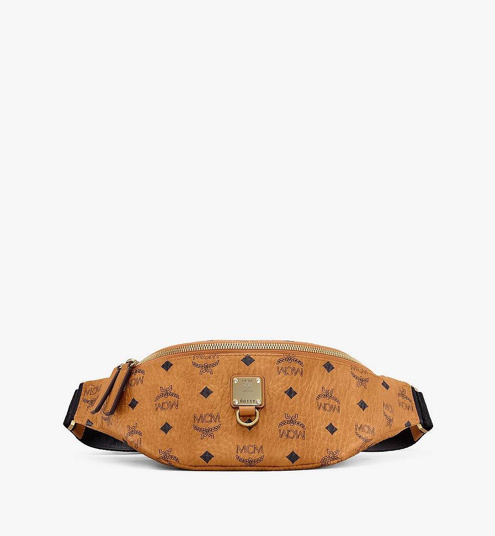 MCM Fursten Belt Bag in Visetos Cognac MUZ9SFI27CO001 Alternate View 1