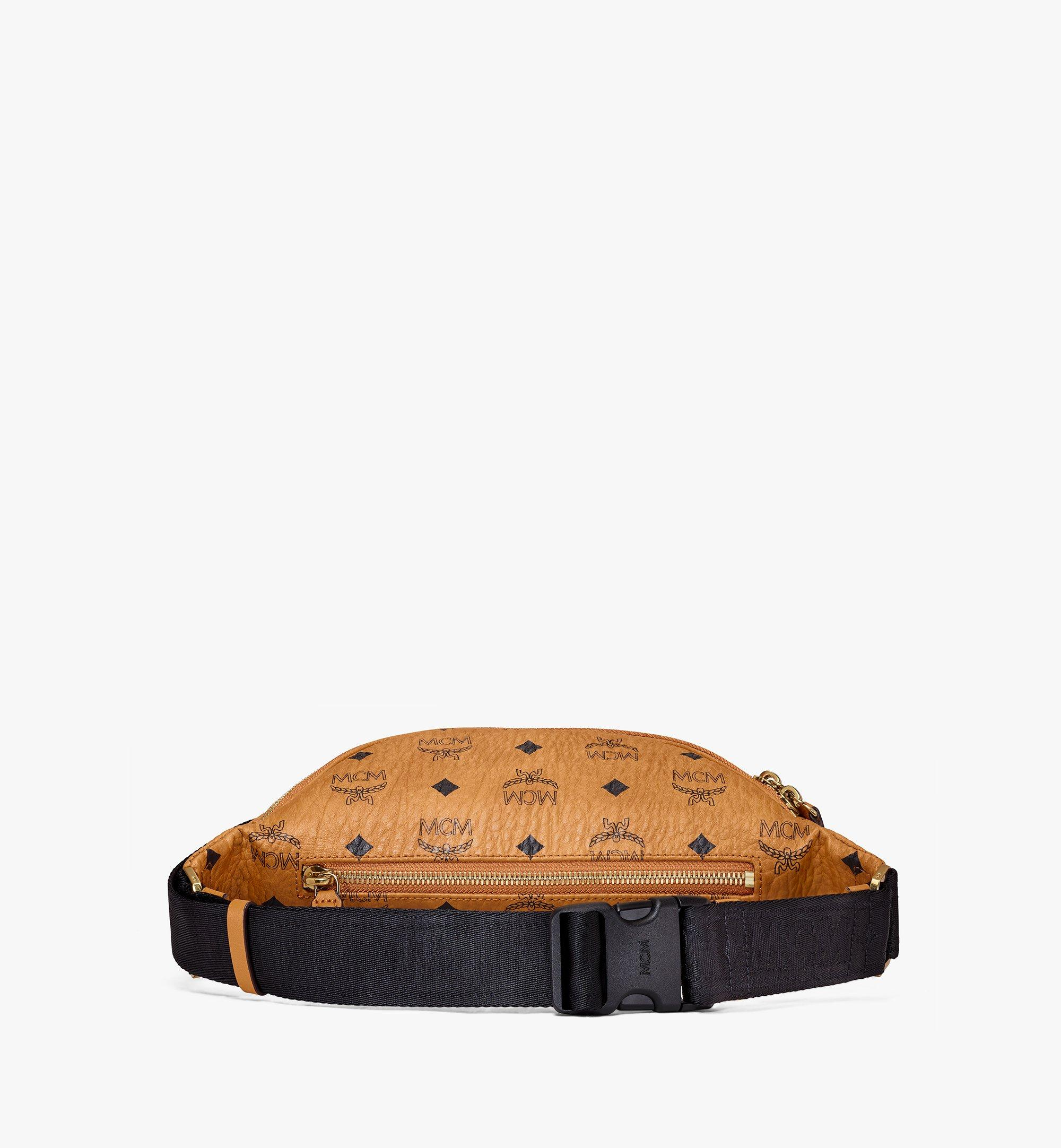 MCM Fursten Belt Bag in Visetos Cognac MUZ9SFI27CO001 Alternate View 4