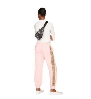 MCM Fursten Belt Bag in White Logo Visetos Alternate View 7