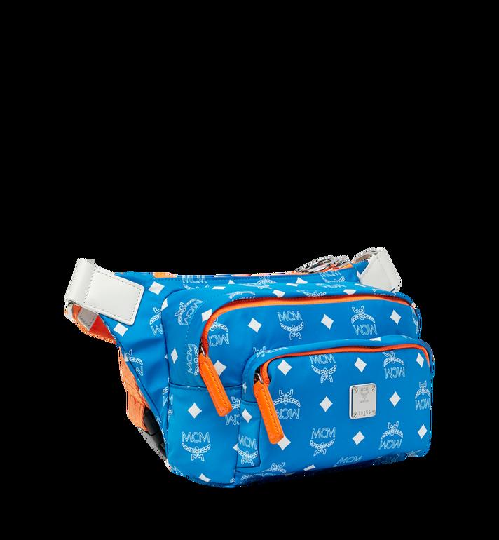 MCM Resnick Belt Bag in White Logo Nylon Alternate View 2