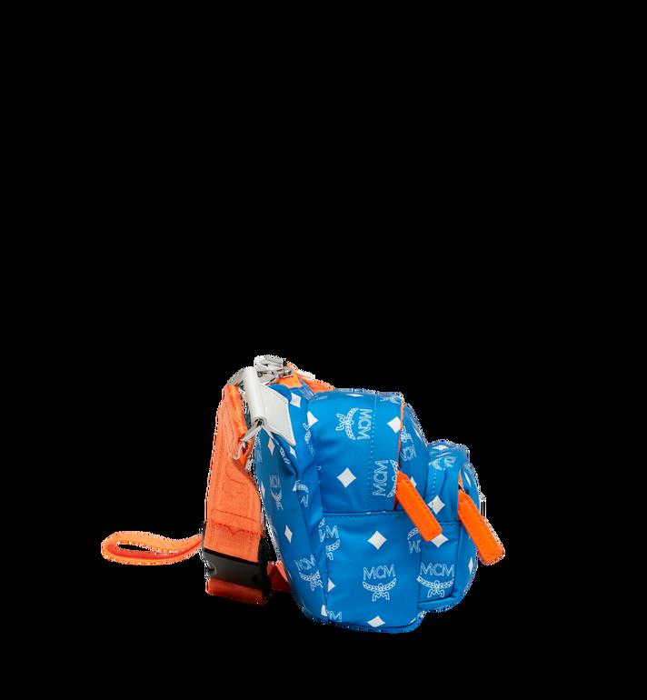 MCM Resnick Belt Bag in White Logo Nylon Alternate View 3