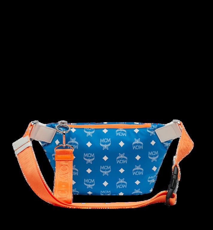 MCM Resnick Belt Bag in White Logo Nylon Alternate View 4