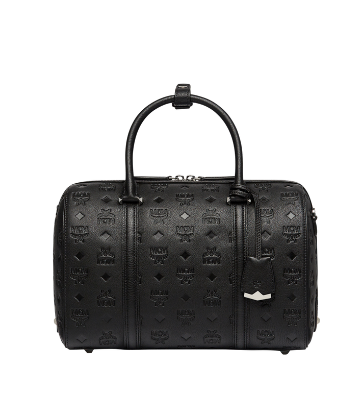 MCM Essential Boston in Monogram Leather Alternate View