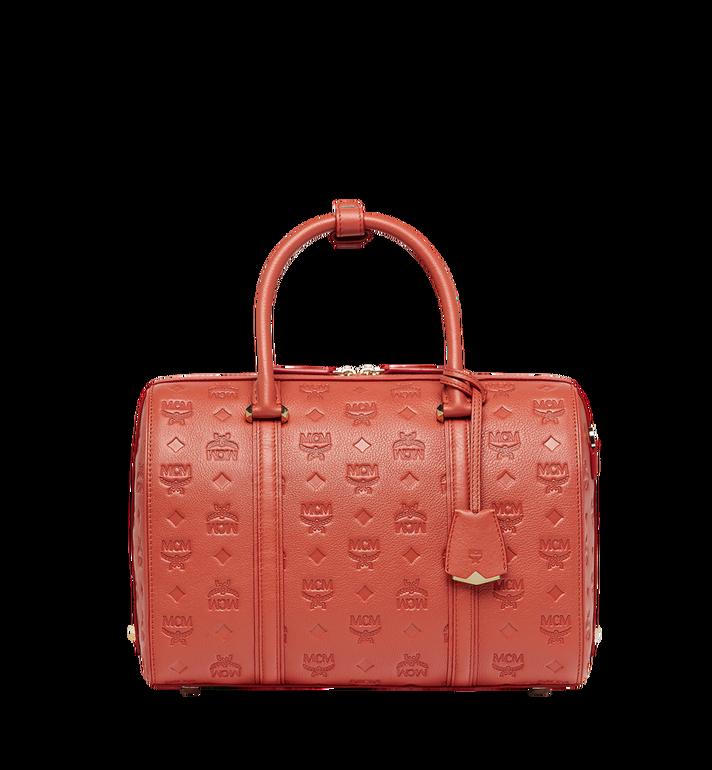 MCM Essential Boston Bag in Monogram Leather MWB8ASE53PW001 AlternateView
