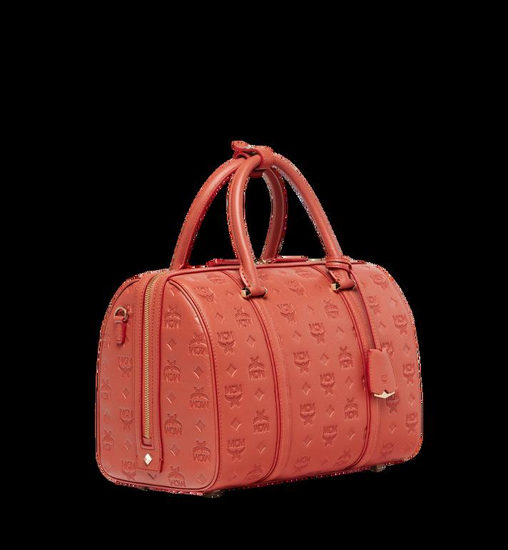 MCM Essential Boston Bag in Monogram Leather MWB8ASE53PW001 AlternateView2