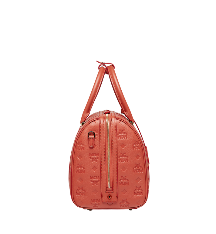 MCM Essential Boston Bag in Monogram Leather MWB8ASE53PW001 AlternateView3