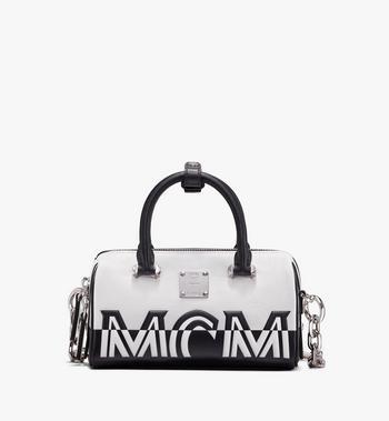 MCM Boston Bag in Contrast Logo Leather Alternate View