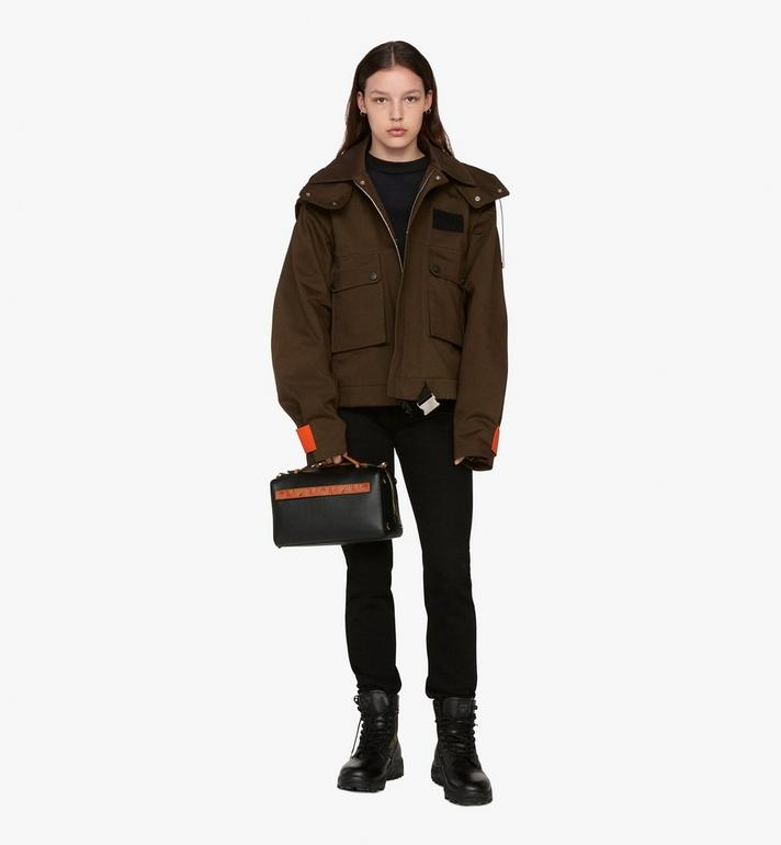MCM Milano Boston Bag in Calfskin Leather Alternate View 6