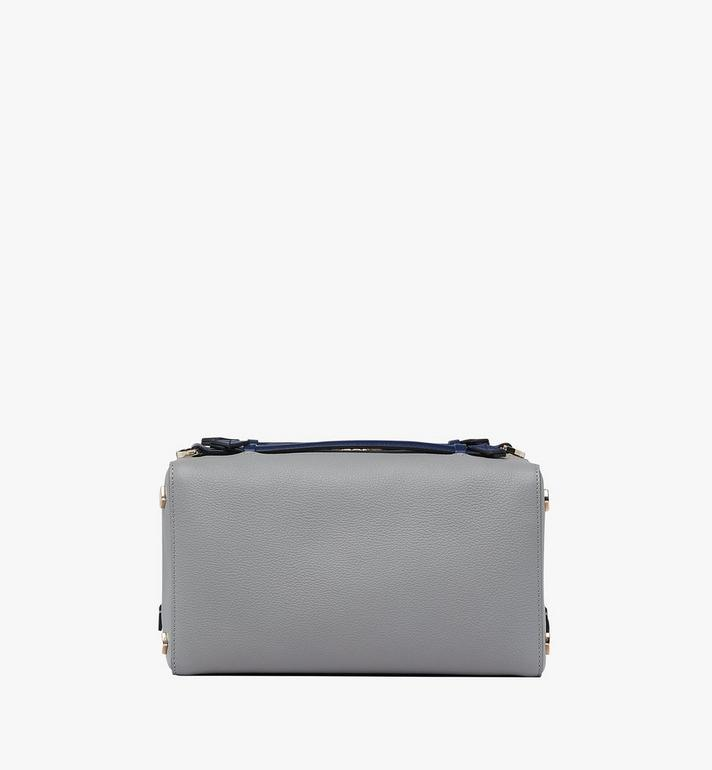 MCM Milano Boston Bag in Calfskin Leather Grey MWB9ADA51EZ001 Alternate View 3