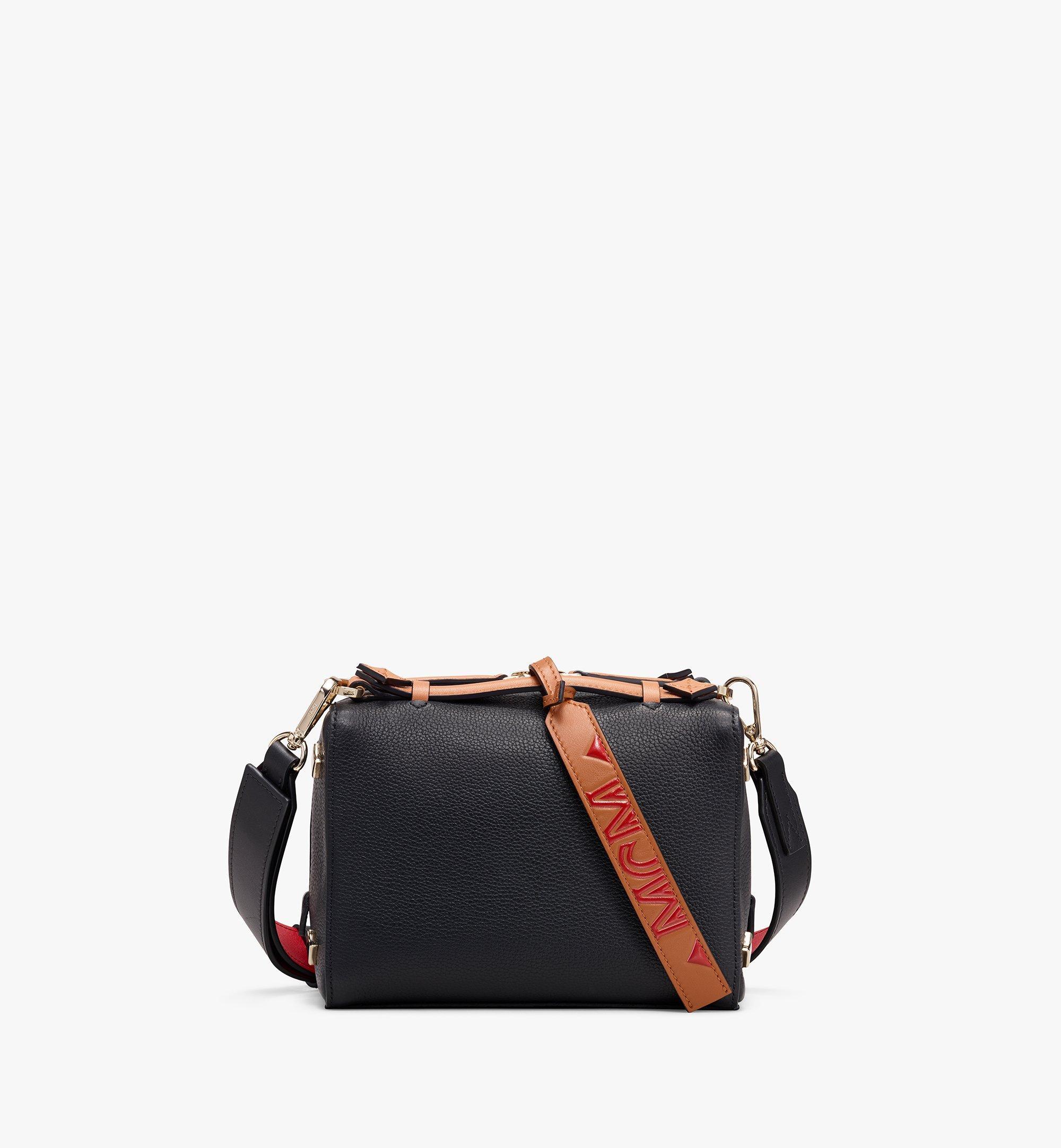 MCM Milano Boston Bag in Calfskin Leather Black MWB9ADA52BK001 Alternate View 1