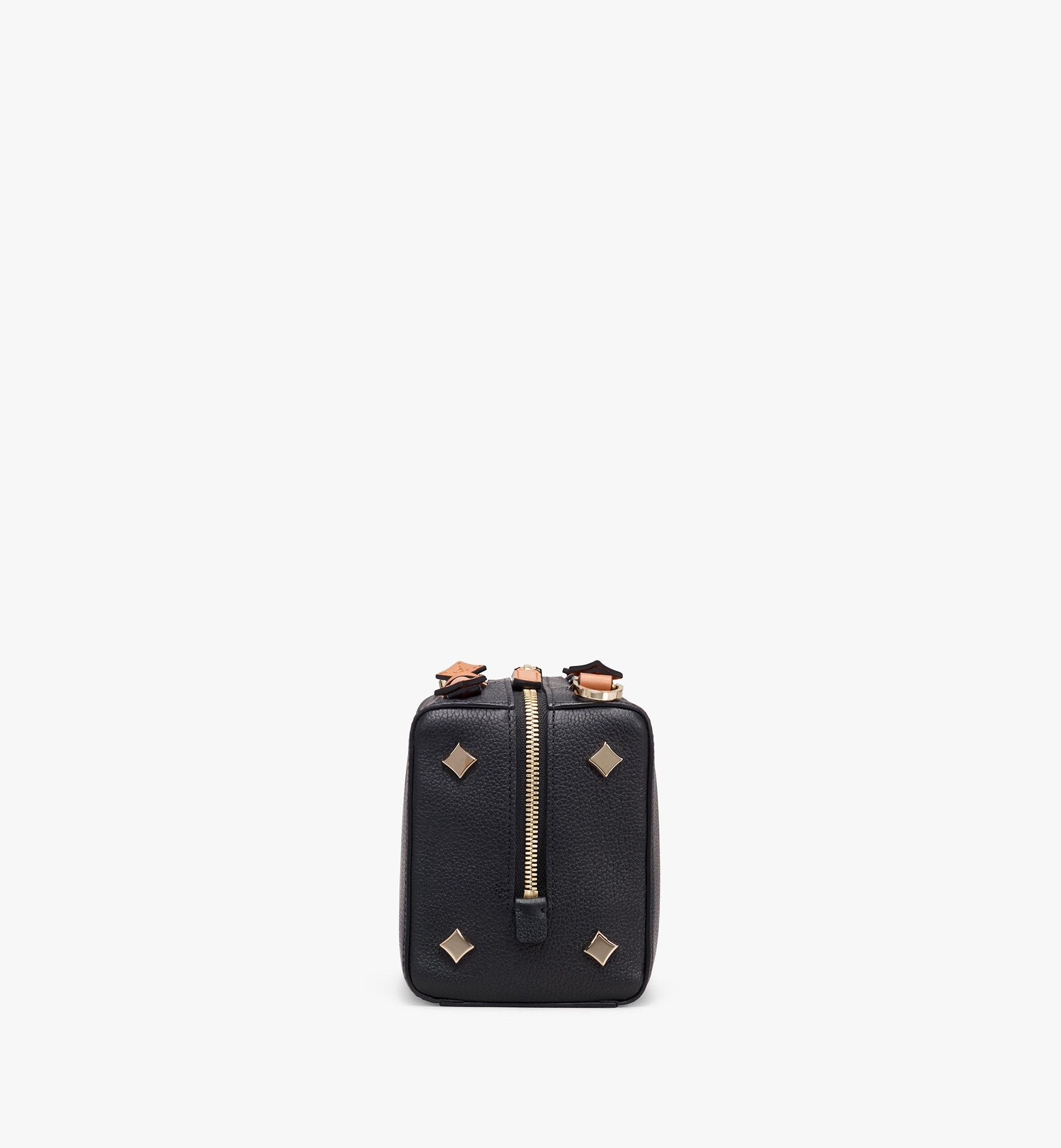 MCM Milano Boston Bag in Calfskin Leather Black MWB9ADA52BK001 Alternate View 2
