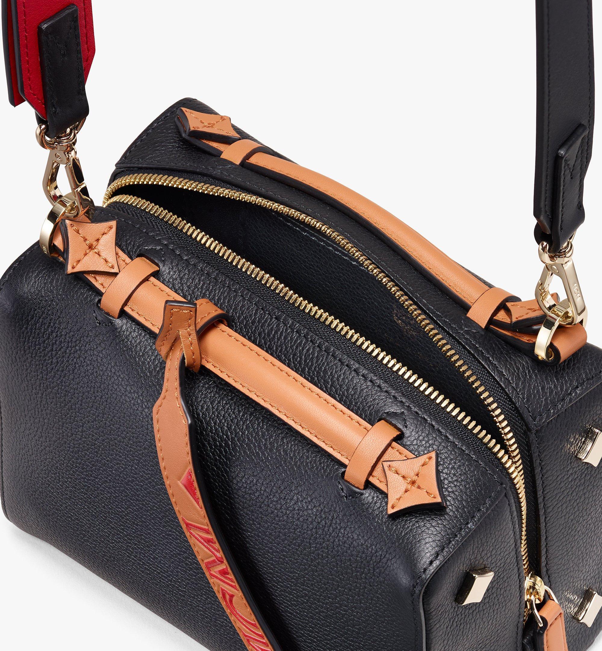 MCM Milano Boston Bag in Calfskin Leather Black MWB9ADA52BK001 Alternate View 4