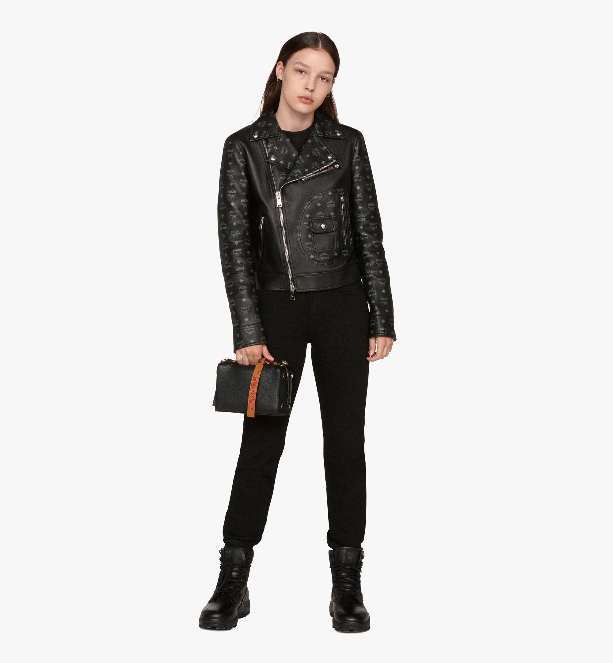 MCM Milano Boston Bag in Calfskin Leather Black MWB9ADA52BK001 Alternate View 6